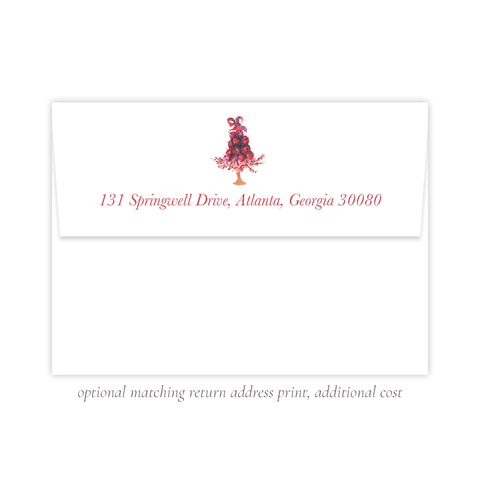 Paradise Apples Christmas Return Address Print