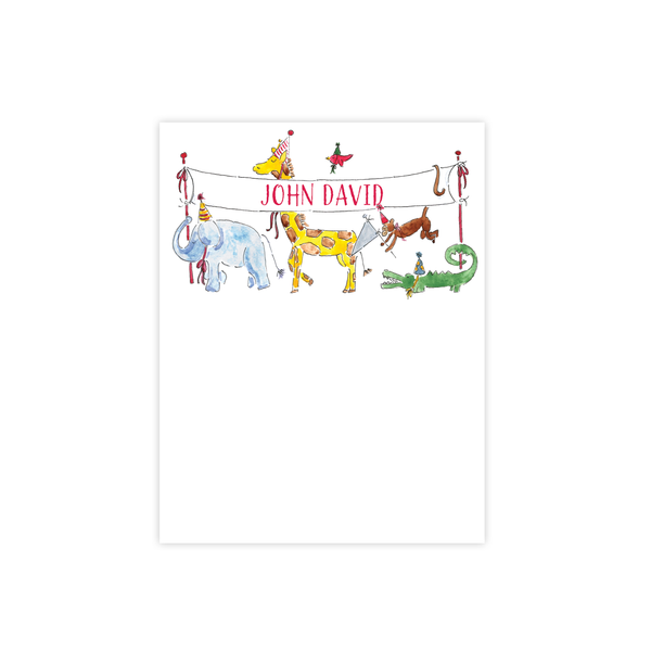 Party Animals Flat Stationery
