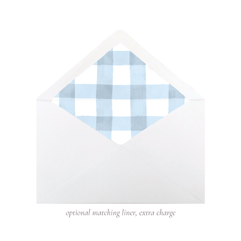Party Hat Light Blue A7 Euro Envelope Liner