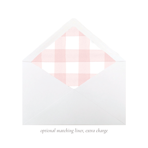 Party Hat Light Pink A7 Euro Envelope Liner