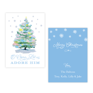 Pastel Christmas Tree 4 Bar Christmas Gift Tag