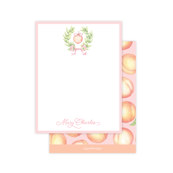 Peaches Flat Stationery