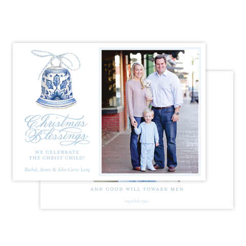 Peden Blue Christmas Card