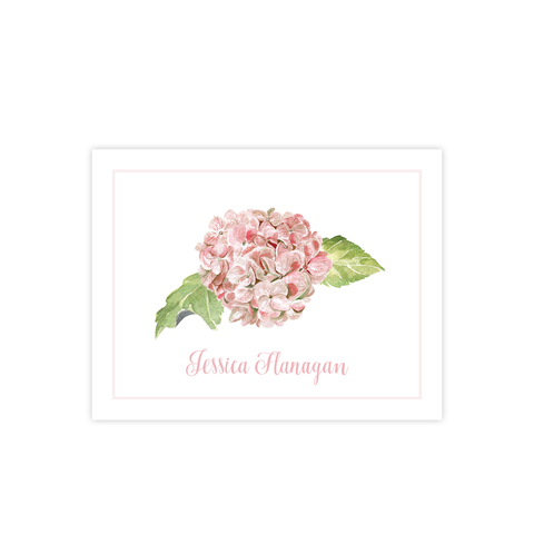 Hydrangea Pink Fold Over Stationery