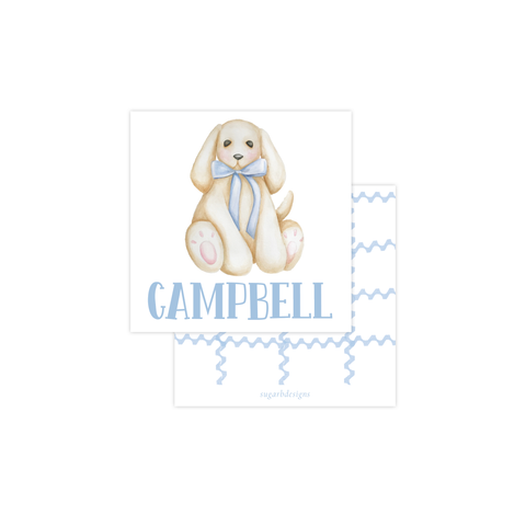 Plush Pup Blue Calling Card
