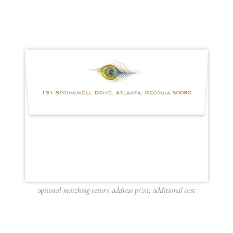 Roberson Peacock A7 Return Address Print