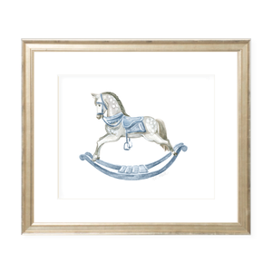 Ridley the Rocking Horse Landscape Watercolor Print