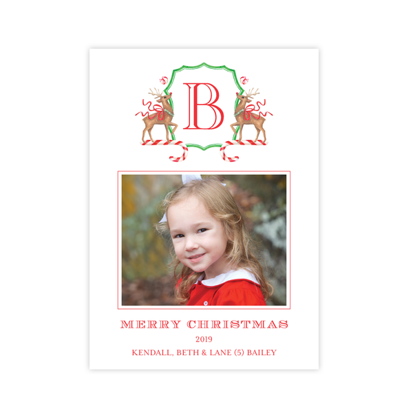 Rudolph's Delight Portrait Christmas Card