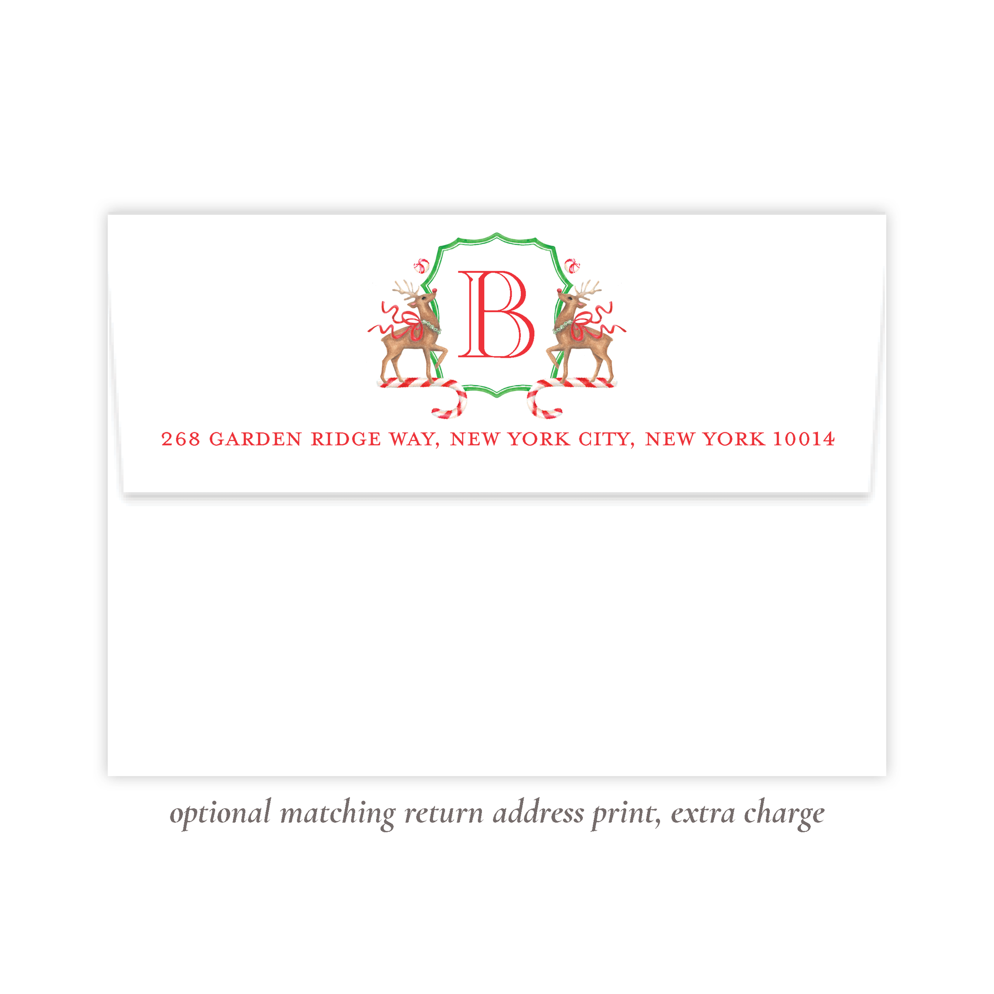 Rudolph's Delight Return Address Print
