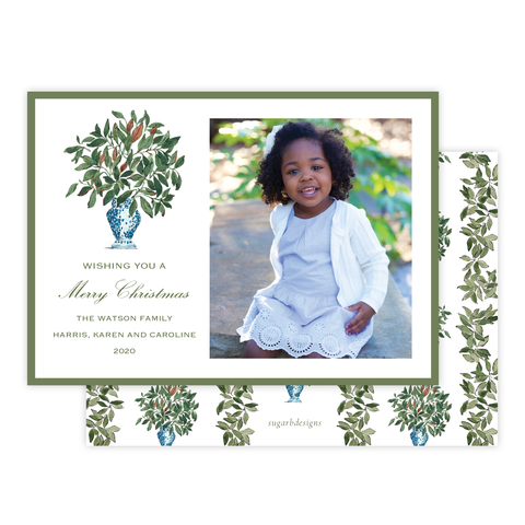 Southern Magnolia Christmas Card Landscape
