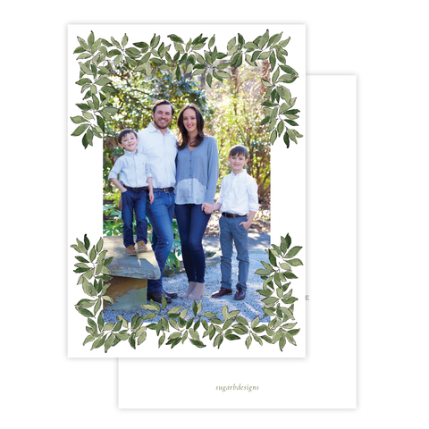 Southern Magnolia Christmas Card Portrait