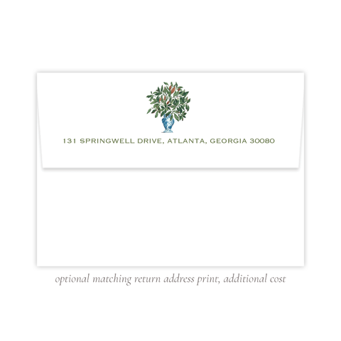 Southern Magnolia A7 Return Address Print