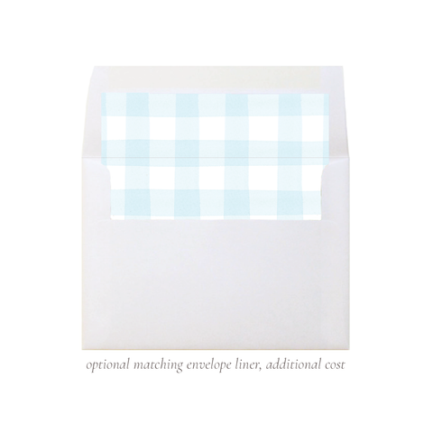 Sweet Treats Blue A7 Square Envelope Liner