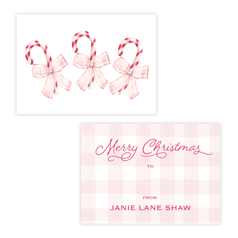 Sweet Treats Pink Christmas 4 Bar Christmas Gift Tag Landscape