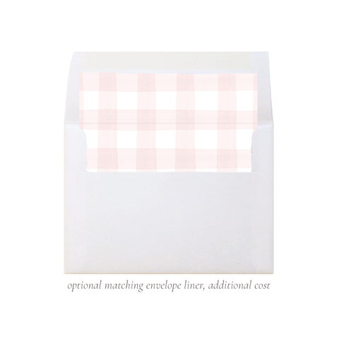 Sweet Treats Pink A7 Square Envelope Liner