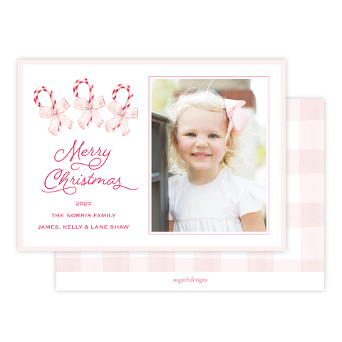 Sweet Treats Pink Christmas Card Landscape