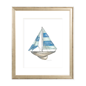 Sam's Sailboat Watercolor Print