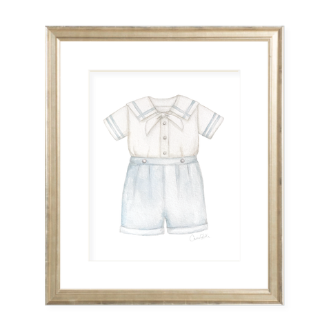 Samuel Sailor Suit Watercolor Print