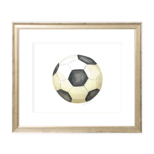 Soccer Landscape Watercolor Print