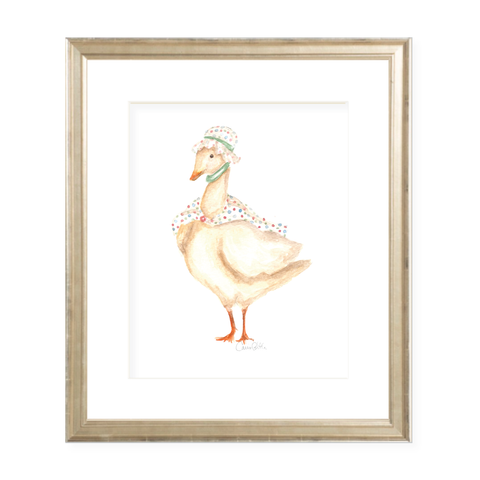 Standing Mother Goose Watercolor Print