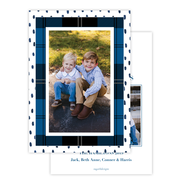 Sullivan Estate Blue Portrait Christmas Card