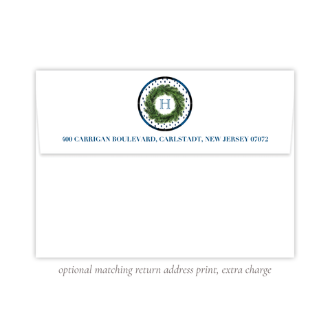 Sullivan Estate Blue Return Address Print