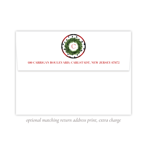 Sullivan Estate Red Return Address Print