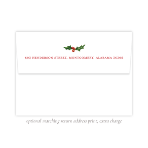 Summit Season Christmas Return Address Print