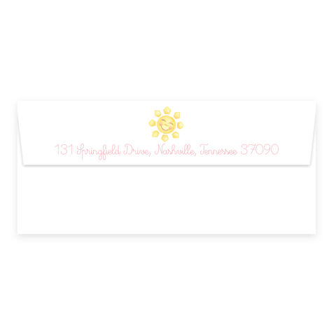Sunshine Pink #10 Envelope for Notepad