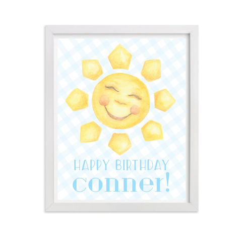 Sunshine Blue Party Sign