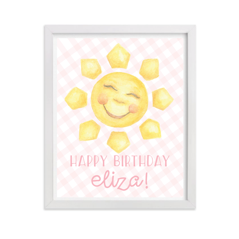Sunshine Pink Party Sign