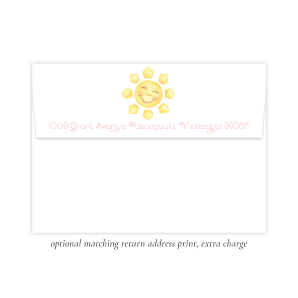 Sunshine Pink Birthday Invitation