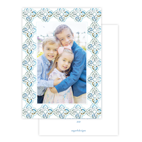They Saw the Star Christmas Card Border Portrait