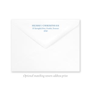 They Saw the Star A9 Envelope Return Address Print
