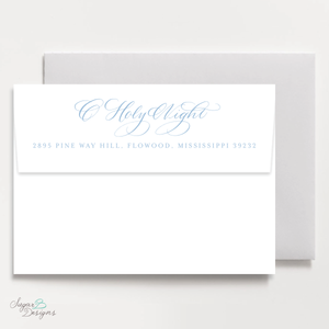 Newborn King Christmas Return Address Print