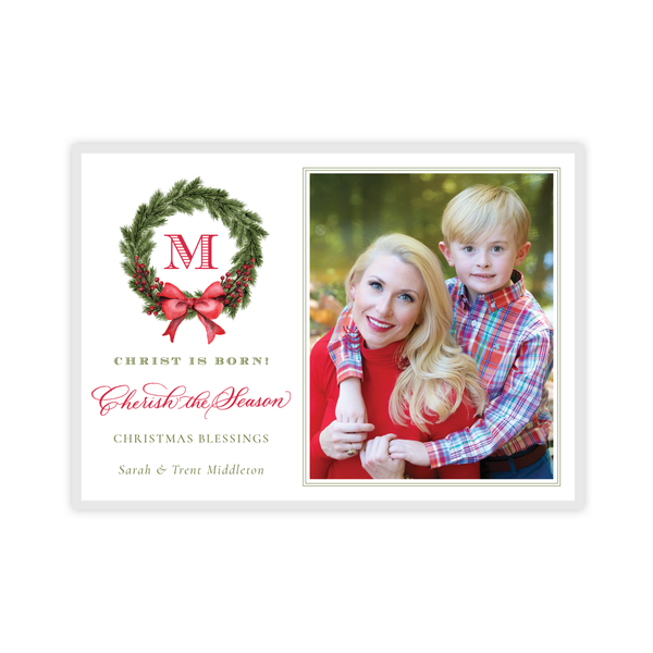 Taylor Tinsel Landscape Four Photo Christmas Card
