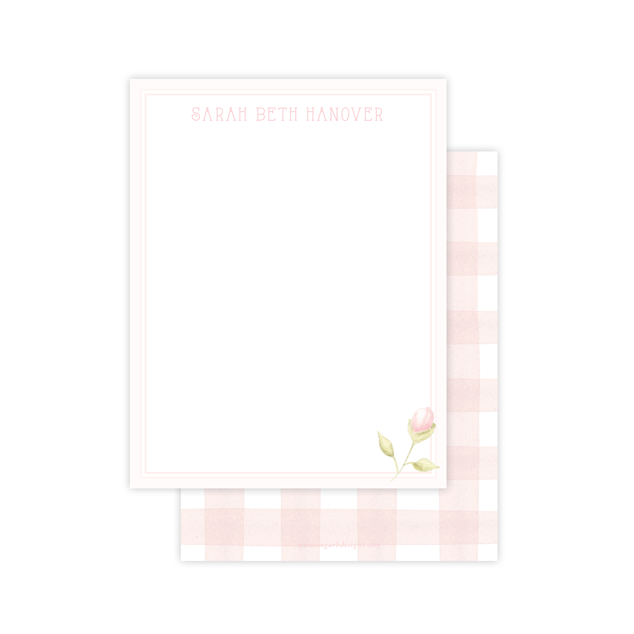 Tea Rose Flat Stationery