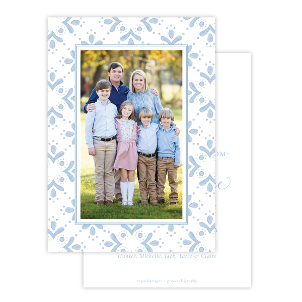 Newborn King Change of Address Christmas Card
