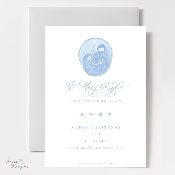 Newborn King Vertical Christmas Card