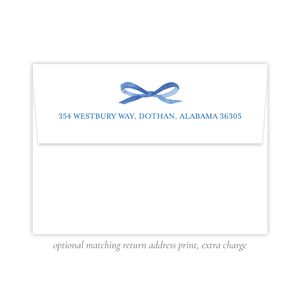 Thompson Lane Blue Return Address Print