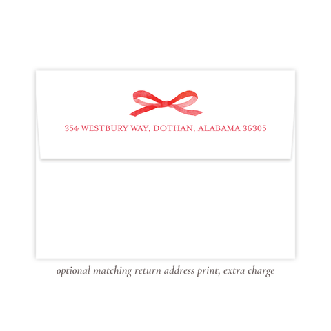Thompson Lane Red Return Address Print