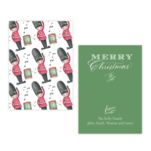 Toy Soldier Pattern 4 Bar Christmas Gift Tag