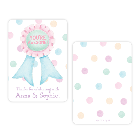 Tumble and Play 4 Bar Party Favor Gift Tag