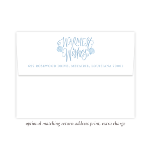 Under the Sea Blue Return Address Print