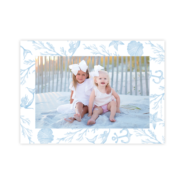Under the Sea Blue Landscape Christmas Card