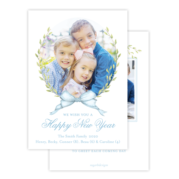 Victoria Blue New Year Card
