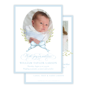 Victoria Blue Birth Announcement