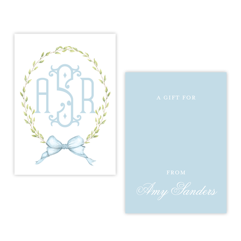 Victoria Blue 4 Bar Gift Tag