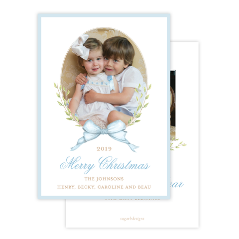 Victoria Blue Christmas Card