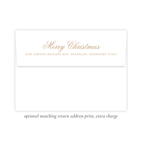 Victoria Tan Return Address Print